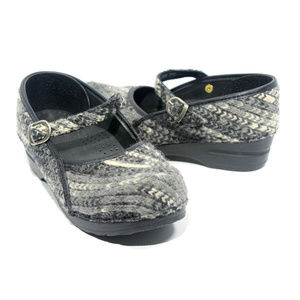 SANITA Mary Jane Knitted Clogs Size 38